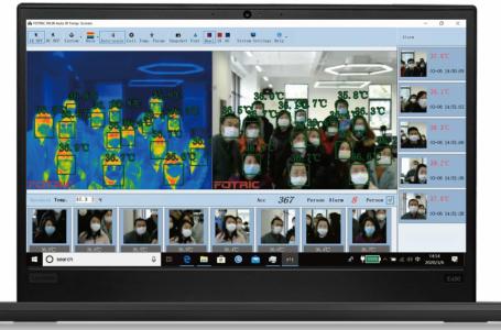 FOTRIC 226B Aufnahme mehrerer Leute auf dem Laptop